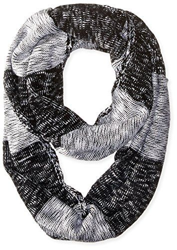Calvin Klein Women's Plaited Stripe Infinity Scarf, Black, One Size –  Todays Shopping