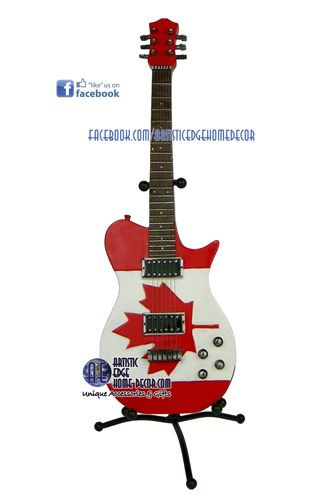 Canada Flag Guitar Piggy Bank 23 95 W Stand Rox 14 High Without