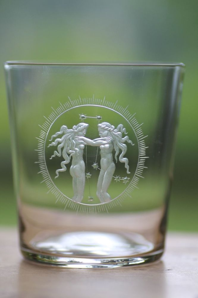 Lobbyer clear engraved tumbler. We have 4 available - Scorpio, Gemini, Taurus, Virgo. These are really unique and gorgeous representations of the zodiac signs. | eBay!