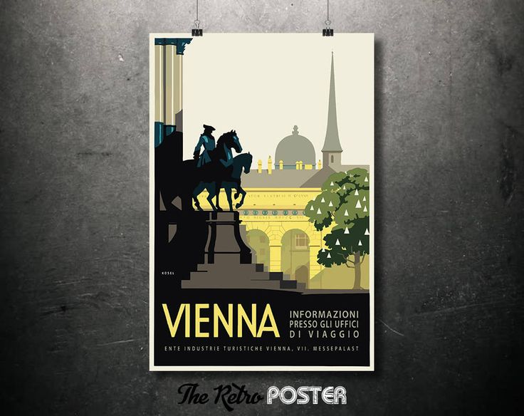 1930 Vienna - Ente Industrie Turistiche (Tourist Industry) - Vintage Poster or Canvas // High Quality Fine Art Reproduction Giclée Print by TheRetroPoster on Etsy