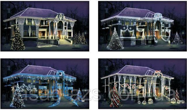 """Дизайн-проект новогодней иллюминации - """"Премиум"""": продажа новогодней иллюминации. дизайн экстерьера от ТМ Lumion-0993817403,0442219483"""