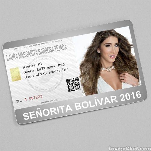 Laura Margarita Barbosa Tejada Srta. Bolivar Miss Colombia 2016 card