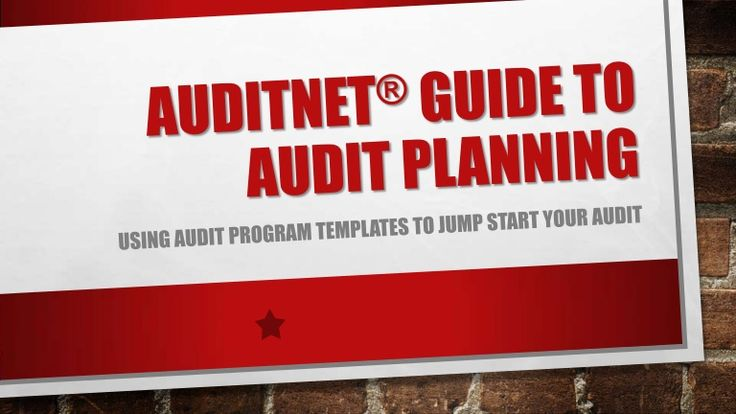 Here is a guide from the founder of AuditNet® on how to facilitate an audit for a new area.