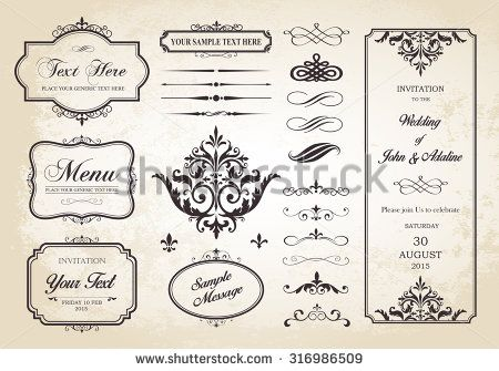 This image is a vector file representing a Vector Set of Borders, Frames and Page Dividers design illustration./Borders, Frames and Page Dividers/Vector Set of Borders, Frames and Page Dividers