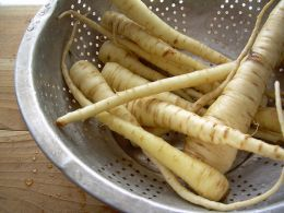 Roasted parsnips