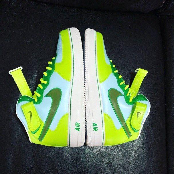 Neon Scene Custom Painted AF1 Sneakers | Sneakers, Custom