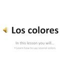 Use these interactive presentation to teach your students in class or independently on class devices the colors in Spanish! The presentation introd...