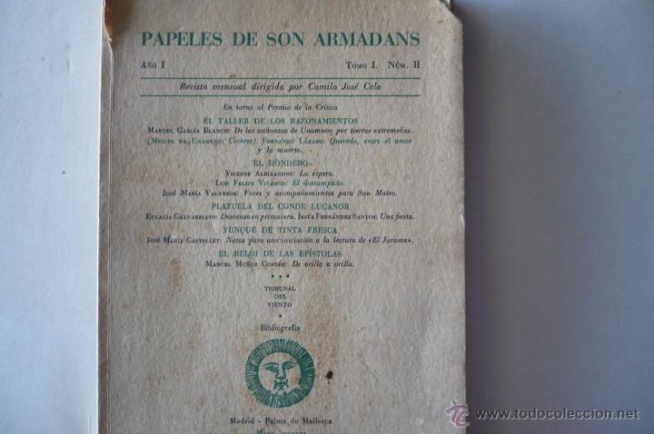 PAPELES DE SON ARMADANS-TOMOXVIII N.LIV DIRIGIDA POR CAMILO JOSE CELA