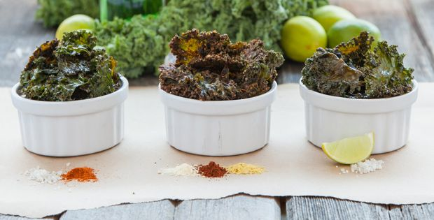 Best Kale Chip Recipe: Nacho Kale Chips, Spicy Kale Chips, and Lime and Sea Salt Kale Chips