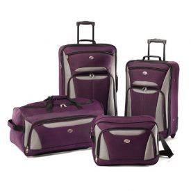 This set has everything you need to travel is style. Product Features Ultra light-weight construction.Boarding Bag – 15x10x8 inches,Wheeled Duffel – 23×11.5x 12 inches,21inch Upright – 21x 14x 7 inches,25inch Upright – 24.5x16x8 inches Reinforced corners defend against the harshest travel conditions Multiple exterior and interior pockets keep you well organized Push button locking handle. […]