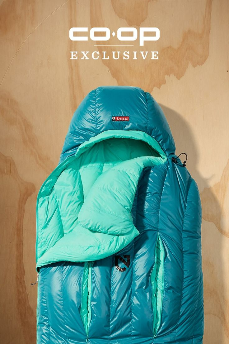 Get a great night's sleep anywhere in the women-specific NEMO Rave 15 sleeping bag. It has strategically-placed down for added warmth. A spoon shape provides generous room at the elbows and knees.Premium, 650-fi ll Nikwax hydrophobic down insulation offers lightweight warmth when the temps drop. On milder nights, Thermo Gills can be unzipped to let heat out without letting cold drafts in. Get this bag for happy sleeping under the stars.