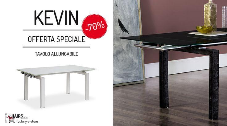 KEVIN è il tavolo allungabile con piano in vetro temperato e struttura in acciaio rivestito in rigenerato di cuoio stampa serpente. Disponibile in bianco o in nero. http://www.chairsoutlet.com/ita/articolo/tavoli/tavoli-in-metallo/tavolo-da-soggiorno-kevin-offerta-chairsotlet-com/15/52/321.php