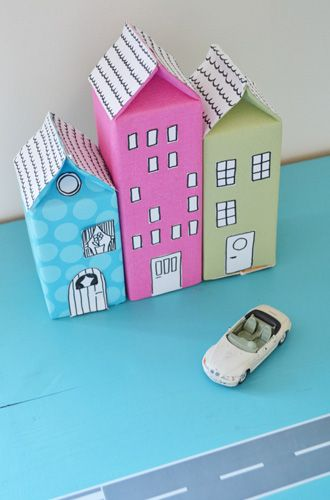 Cute craft using milk and juice cartons.