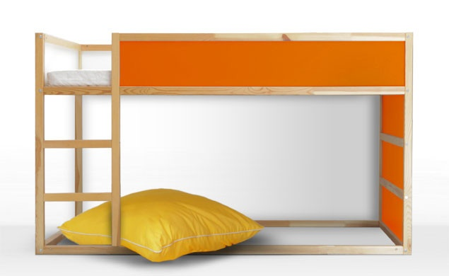 Love that I can choose the colors of the panels! #Orange  IKEA Kura Bunk Bed with PANYL - Sunburst