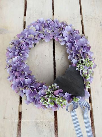 Purple Wreath Summer WreathAutumn Wreath Front door by MDECOR1979