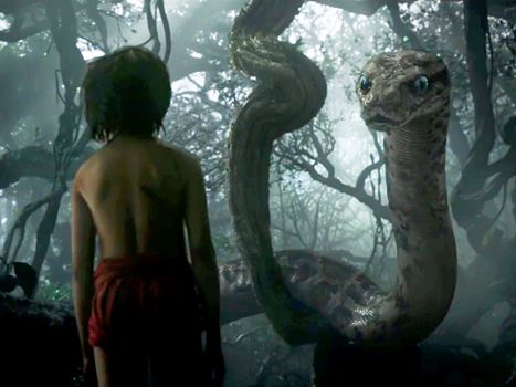 Scarlett Johansson voices the creepy snake, Kaa, in the live-action Jungle Book. ..