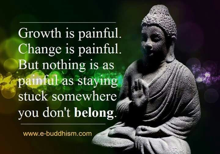 Nothing is painful as staying somewhere you don't belong