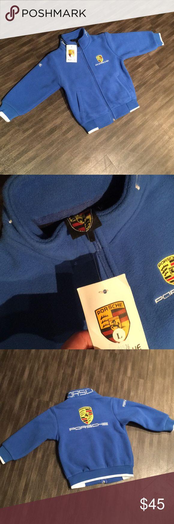 Nwt porsche design fleece zip up Nwt Boys size 8-10 Fleece Porsche Design Jackets & Coats