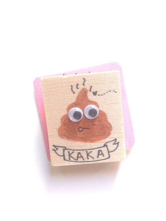 Wooden Poo Brooch  Handmade Shit Brooch  Funny by HappyMarker #poo #shit #googlyeyes #googly