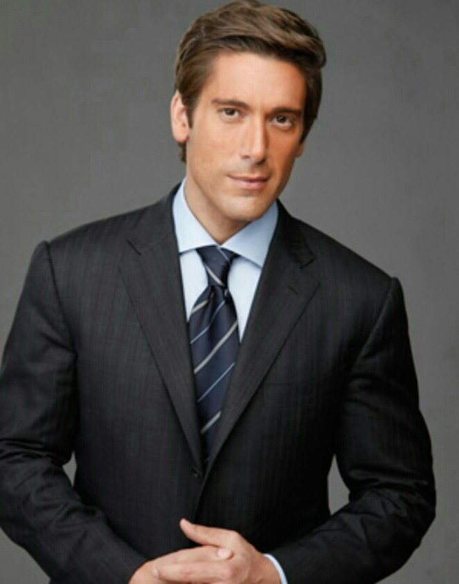 David Muir -good at his job and easy on the eyes, makes you pay attention to what's happening.