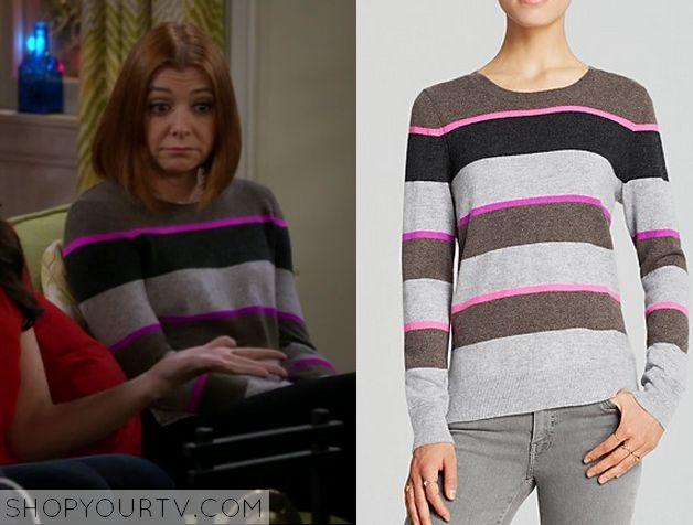 The McCarthys: Season 1 Episode 8 Grey & Pink Striped Sweater