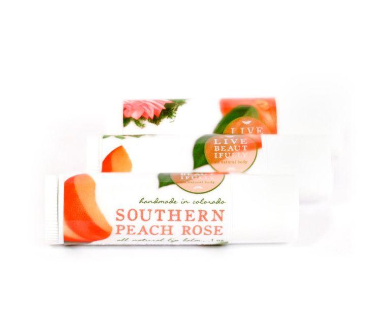 Southern Peach Rose - All Natural Lip Balm Tube