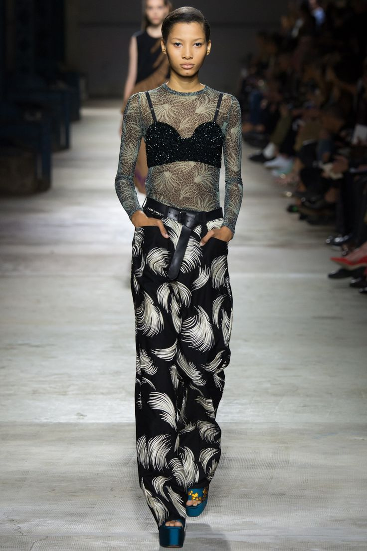 A master class in reverse layering at Dries Van Noten.