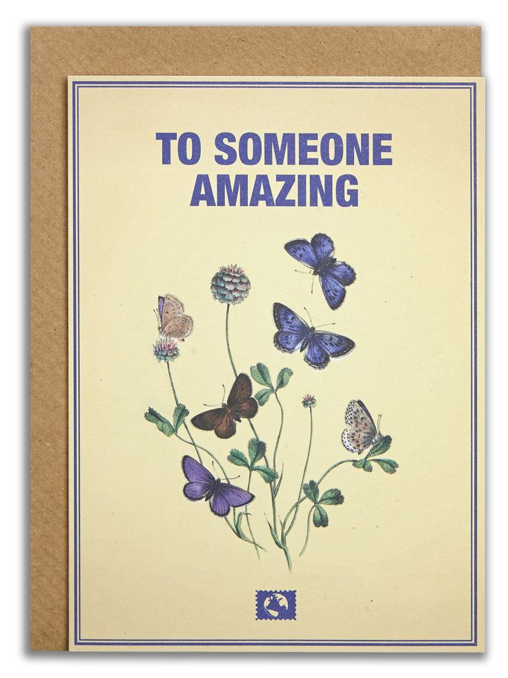"""To someone amazing"". #messageearth #sustainable #greetingcards #sustainability #eco #design #ecodesign #vintage #cards #peculiar"