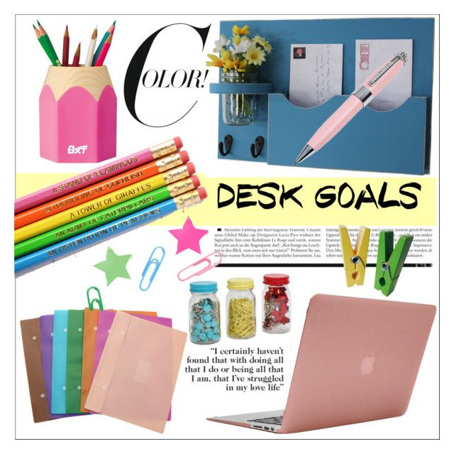 """Desk Colors📚"" by cavallienastri ❤ liked on Polyvore featuring interior, interiors, interior design, home, home decor, interior decorating, Incase, ICE London, colors and desk"