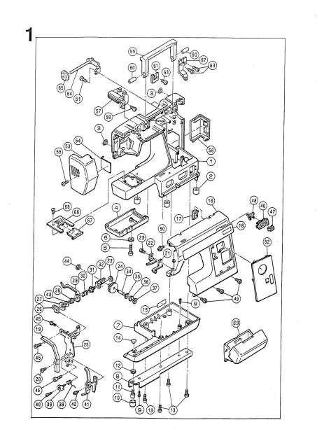 Elna 1500-1600 Sewing Machine Service-Parts Manual in 2020