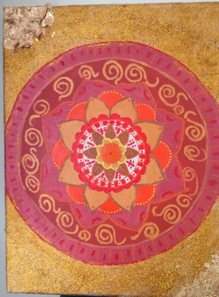 With the light of the day..mandala art
