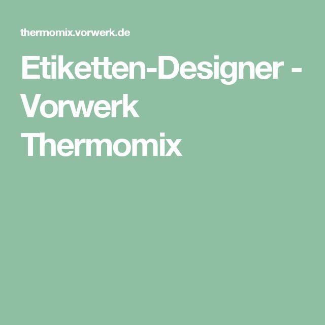 Etiketten-Designer - Vorwerk Thermomix