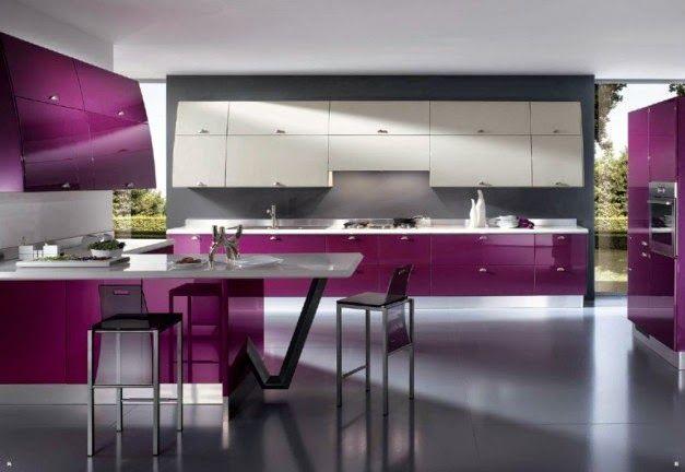 Dekorasi Dapur Dengan Kitchen Set Unggu | Griya Indonesia