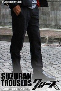 Celana Crows Zero Takiya Genji - Suzuran Trousers (tampak full)