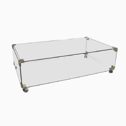 Großer Couchtisch aus Glas & Messing auf Rollen, 1970er Jetzt bestellen unter: https://moebel.ladendirekt.de/wohnzimmer/tische/couchtische/?uid=0fa3efbf-8c76-5890-b332-57a5eb86c89a&utm_source=pinterest&utm_medium=pin&utm_campaign=boards #wohnzimmer #couchtische #tische