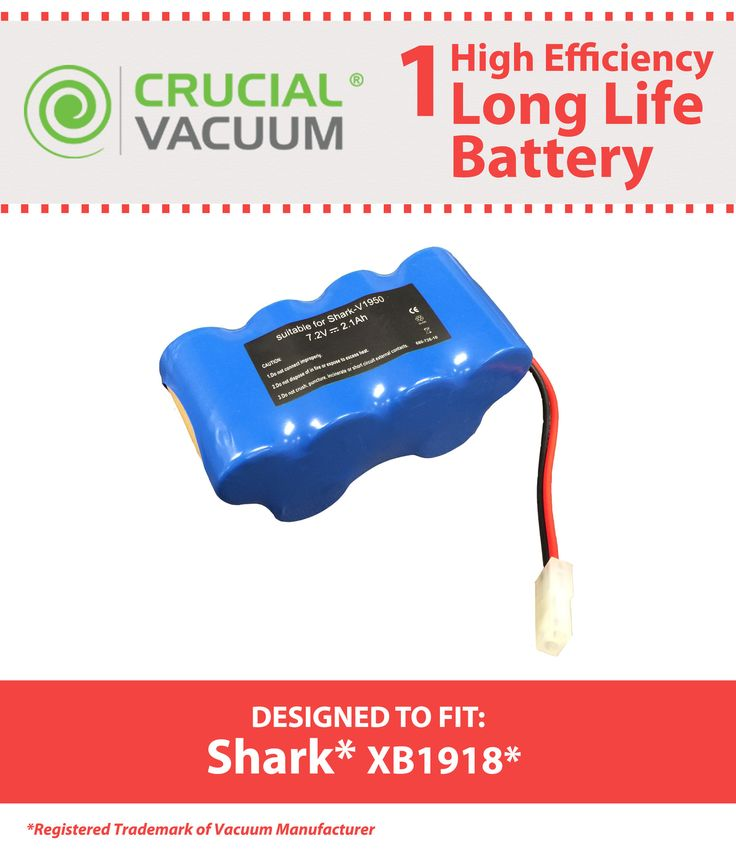 Replacement Battery for Shark Vacuum V1950, VX3; Part No. XB1918