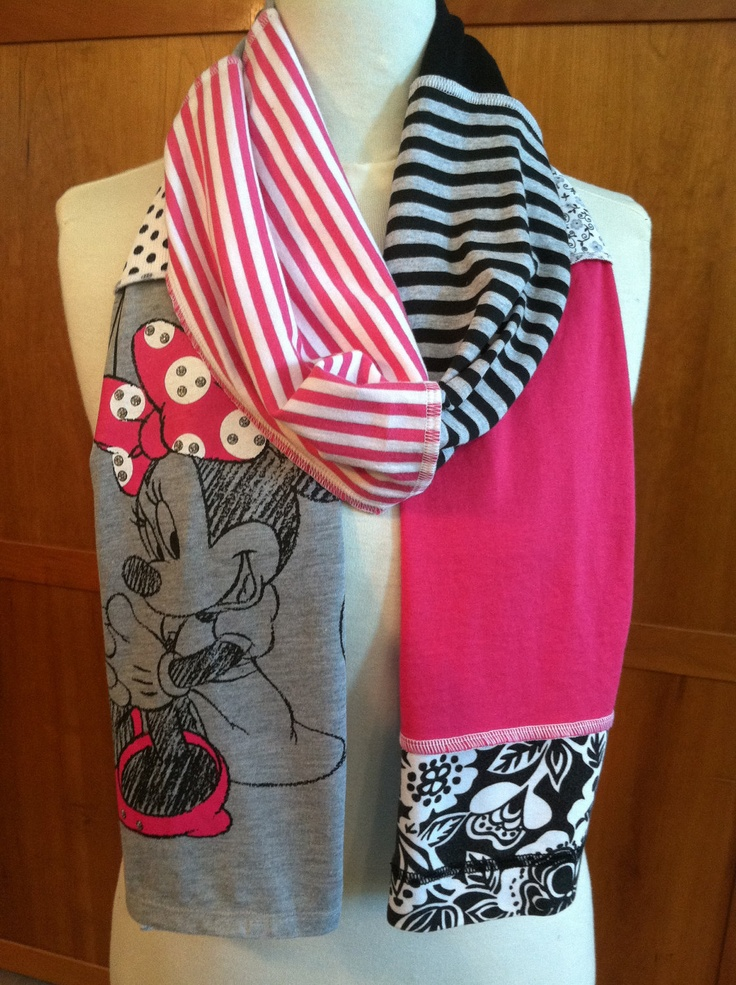 A scarf from your favorite old t-shirts? Brilliant!