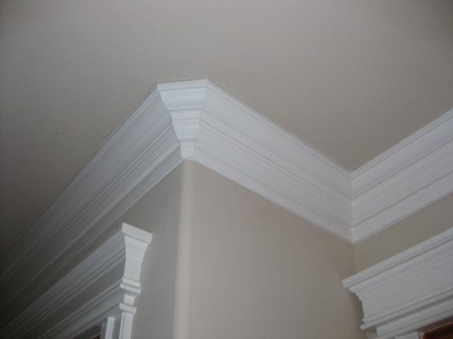 Two Stage Crown Moulding Rounded Corner And Door Casings