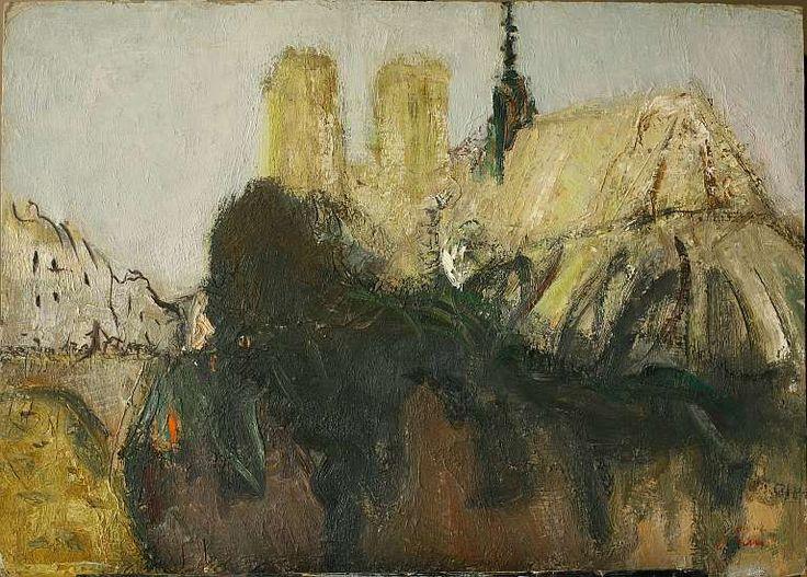 Ольга Плужникова-Орлова 1115. «Notre-Dame des Paris»  2003, 90х130см, картон, масло
