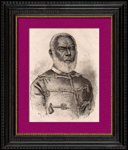 Portrait of George Tupou I (1797-1893) - First king of Tonga