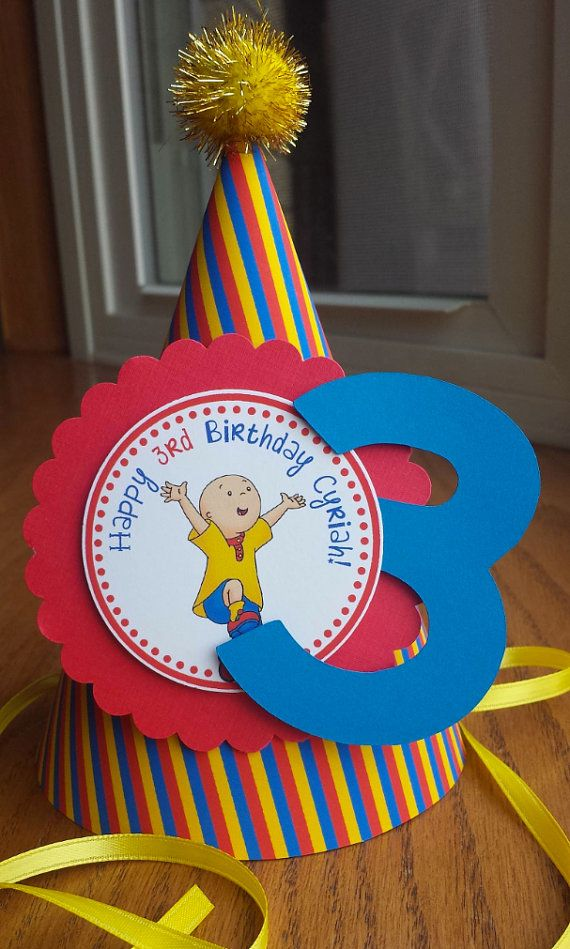 Hey, I found this really awesome Etsy listing at https://www.etsy.com/listing/238812728/new-caillou-birthday-hat