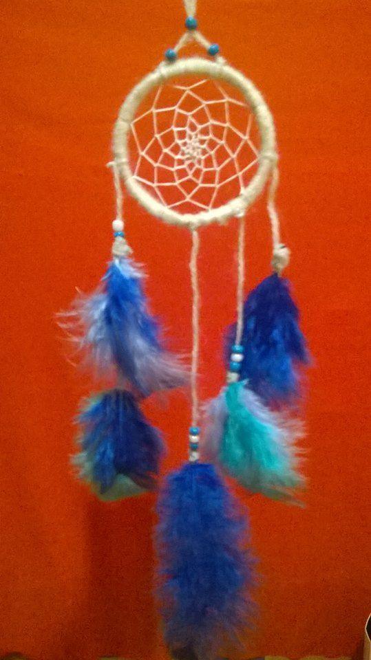 10 cm álomfogó: a kék három árnyalata