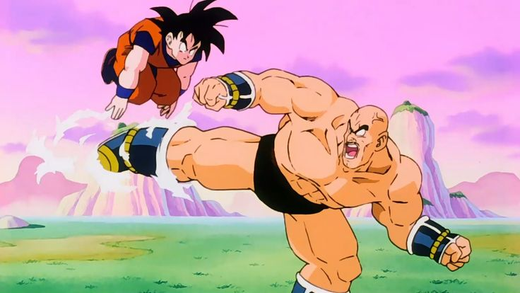 Goku Vs. Nappa |Part 1| |Blu-ray| (1080p HD)