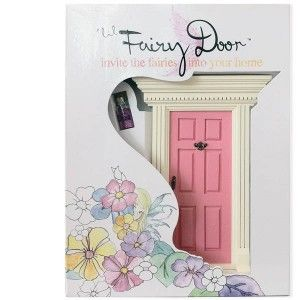 Lil Fairy Door - Light Pink: Attach your special 'lil Fairy Door low on a wall, high on a shelf or in another secret place inside your home. Once your Fairy Door is attached, the fairies will know how to use it to come in and out.   They only come out at night, and are sometimes known to exchange notes and gifts with well behaved children. #alltotstreasures #lilfairydoor #lightpink #woodentoys #fairydoor #fairies #lightpink