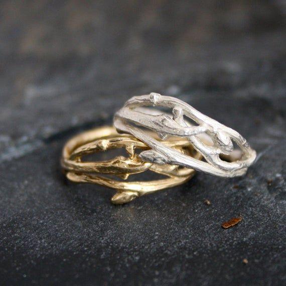 Woodland Branch Twig Wedding Band Or Organic Engagement Ring Twig Wedding Band In 2021 Twig Wedding Band Nature Inspired Engagement Ring Nature Inspired Wedding Ring