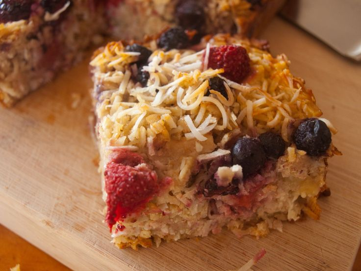 Double Coconut and Berry Baked Oatmeal by tastyshoestring.com