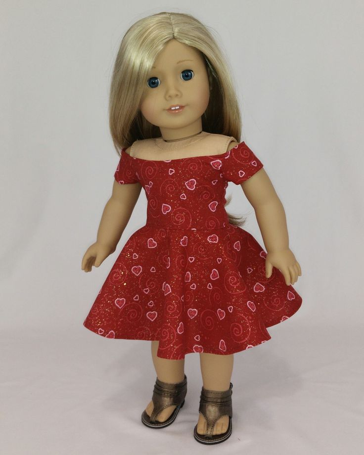 Valentines Day Dress For American Girl Dolls Red Off