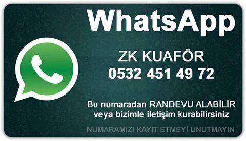 WhatsApp üzerinden bizi takip edin #whatsapp #zkkuafor