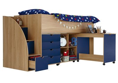 Kidspace milo kids bed frames storage steps bed frame with storage