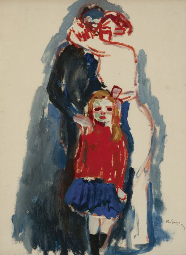 "huariqueje: ""The Mobilisation* - Kees van Dongen , 1914 Dutch 1877-1968 Gouache op papier , 5 cm. / 64.0 cm. / 65 cm. / 80 cm. / 49.2 cm. * The process by which the armed forces of a nation are..."